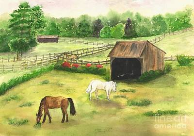 Painting - Bucks County Horse Farm by Lucia Grilletto