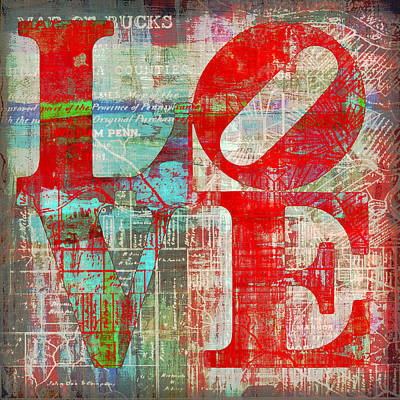 Bucks County Love Art Print
