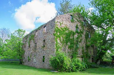Bridgetown Photograph - Bucks County Pa - Bridgetown Millhouse Ruins by Bill Cannon