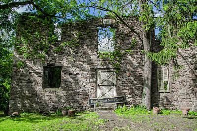 Bridgetown Photograph - Bucks County Ruin - Bridgetown Mill House by Bill Cannon