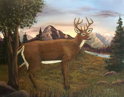 Painting - Buck's Wilderness by Sheri Keith
