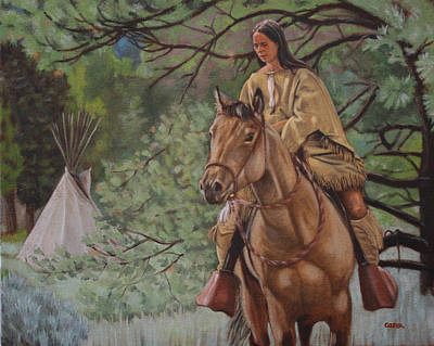 Painting - Buckskins by Todd Cooper