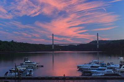 Photograph - Bucksport Maine Penobscot Riverfront Sunset by John Burk