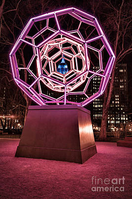 bucky ball Madison square park Art Print by John Farnan