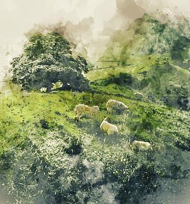 Painting - Bucolic Paradise - 03 by Andrea Mazzocchetti