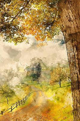 Painting - Bucolic Paradise - 05 by Andrea Mazzocchetti