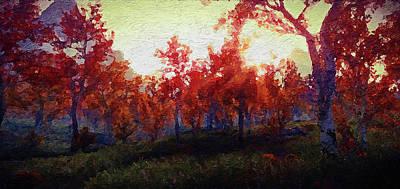 Painting - Bucolic Paradise - 06 by Andrea Mazzocchetti