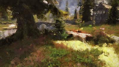 Painting - Bucolic Paradise - 11 by Andrea Mazzocchetti