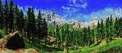 Painting - Bucolic Paradise - 22 by Andrea Mazzocchetti