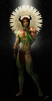 Human Beings Digital Art - Bucon Demon Of Hatred by Joaquin Abella