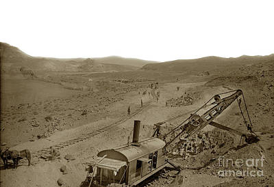 Photograph - Bucyrus Rail Mounted Shovel At Work,  Circa 1915,  by California Views Mr Pat Hathaway Archives