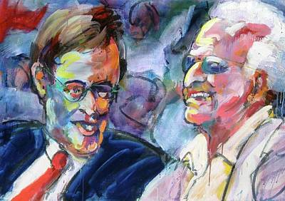Painting - Bud And Bob by Les Leffingwell
