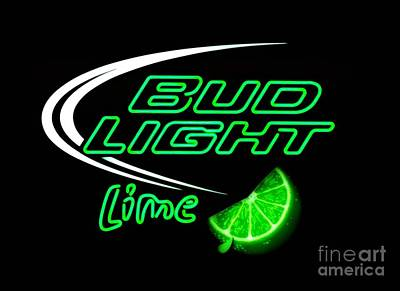 Photograph - Bud Light Lime Edited by Kelly Awad