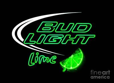 Photograph - Bud Light Lime Re-edited by Kelly Awad