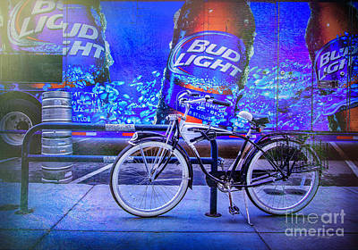 Photograph - Bud Light Schwinn Bicycle by Craig J Satterlee