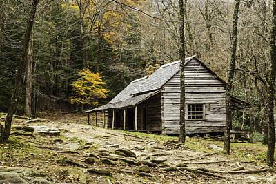 Photograph - Bud Ogle Cabin 05 by Jim Dollar
