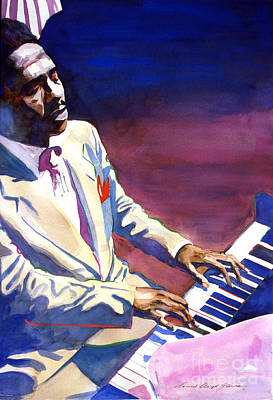 Nostalgia Painting - Bud Powell Piano Bebop Jazz by David Lloyd Glover