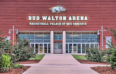 University Of Arkansas Wall Art - Photograph - Bud Walton Arena by JC Findley