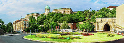 Budapest Photograph - Buda Castle And The Tunnel From Adam Clark Square by Gizella Nyquist