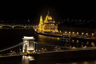 Photograph - Budapest At Night by David Pyatt