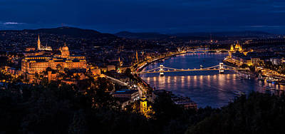 Budapest Sights Photograph - Budapest At Night by Jaroslaw Blaminsky
