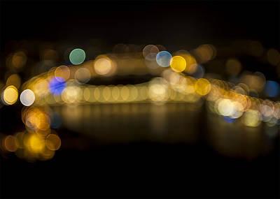 Photograph - Budapest Bokeh Bridge by Pam  Elliott
