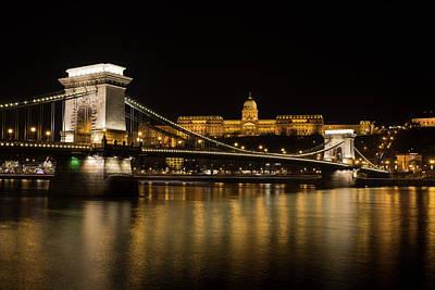 Photograph - Budapest Chain Bridge And Castle by David Pyatt