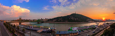 Photograph - Budapest Danube Panorama With Gellert Hill by Judith Barath