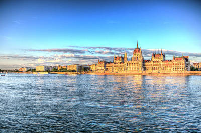 Photograph - Budapest Danube Sunset by David Pyatt