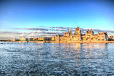 Photograph - Budapest Danube Sunset by David Pyatt