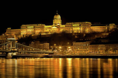 Photograph - Budapest Golden Night by David Pyatt