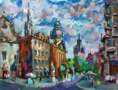 Painting - Budapest. Hungary. A Bright Sunny Day With The Music Of Brahms by Nina Silaeva