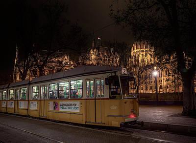 Budapest Hungary Tram #2 Art Print