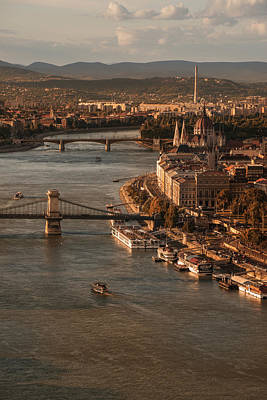 Art Print featuring the photograph Budapest In The Morning Sun by Jaroslaw Blaminsky