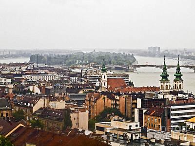 Budapest Tours Photograph - Budapest In The Rain Buda559 by Howard Stapleton