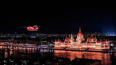 Photograph - Budapest Moonrise by Chris M