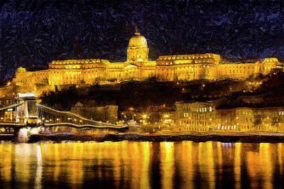 Photograph - Budapest Night Art by David Pyatt