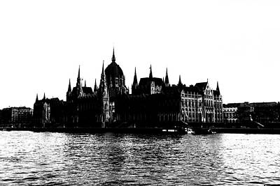 Photograph - Budapest Parliament Building Silhouette by Sharon Popek