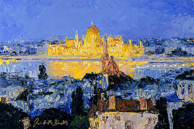Painting - Budapest Parliament From Fisherman's Bastion by Judith Barath