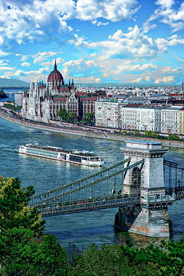 Photograph - Budapest River View by Anthony Dezenzio