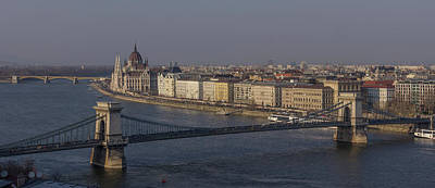 Photograph - Budapest Skyline by David Warrington