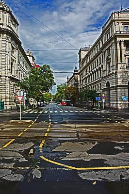 Street Photograph - Budapest Street by Paul Rausch