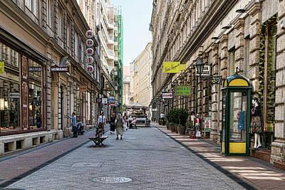 Photograph - Budapest Street Scene by Sharon Popek