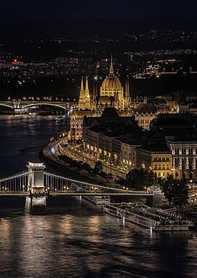 Photograph - Budapest View At Night by Jaroslaw Blaminsky