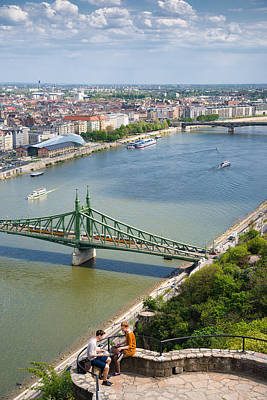 Photograph - Budapest View Liberty Bridge And Danube by Matthias Hauser