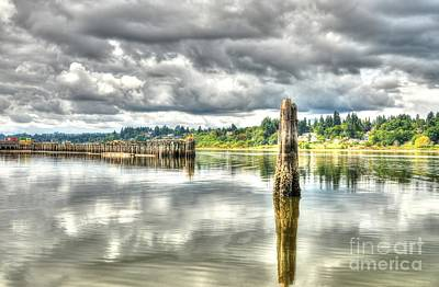 Photograph - Budd Bay Piers by Sarah Schroder