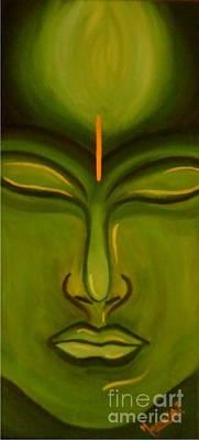 Liberation Painting - Buddha - The Awakening by Meenakshi Malhotra