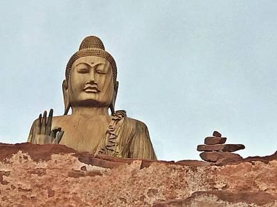 Photograph - Buddha 1 by Lorella Schoales