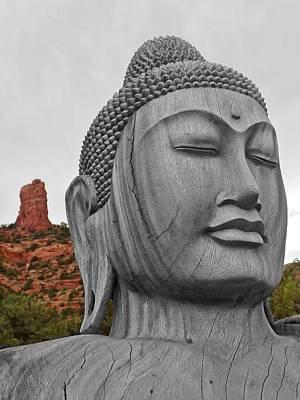 Photograph - Buddha 3 by Lorella Schoales
