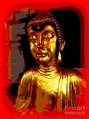 Digital Art - Buddha Abstract by Ed Weidman
